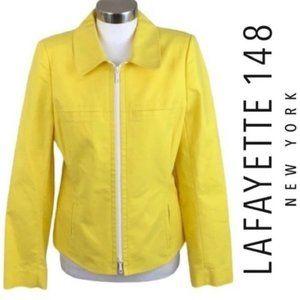 Lafayette 148 NY Yellow Double Zip Jacket, 6